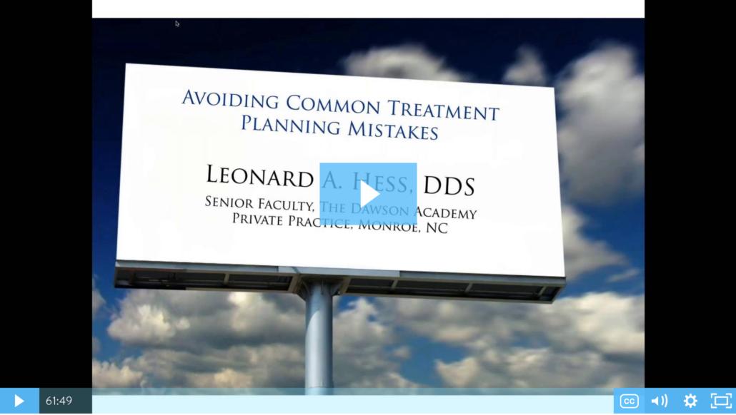 Avoiding Dental Treatment Mistakes